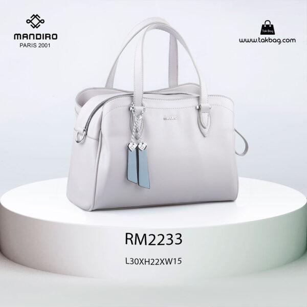 کیف دستی زنانه کد RM-2233 برند ماندیرو رنگ طوسی از جلو ( mandiro RM-2233 )