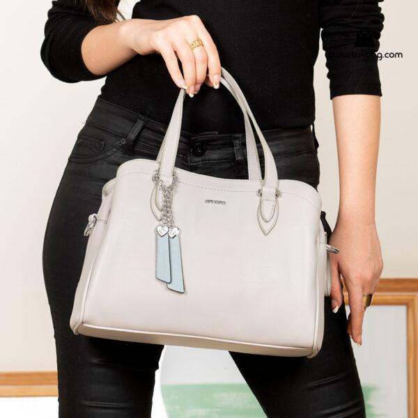 کیف دستی زنانه کد RM-2233 برند ماندیرو رنگ طوسی با مدل ( mandiro RM-2233 )