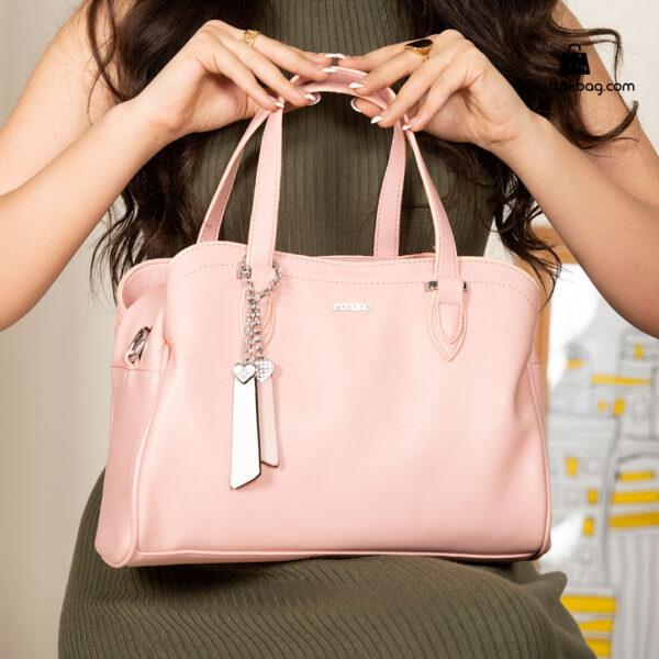 کیف دستی زنانه کد RM-2233 برند ماندیرو رنگ صورتی با مدل ( mandiro RM-2233 )