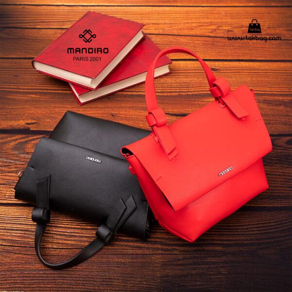 کیف رودوشی زنانه کد RM-2235 برند ماندیرو رنگ مشکی قرمز فانتزی ( mandiro RM-2235 )