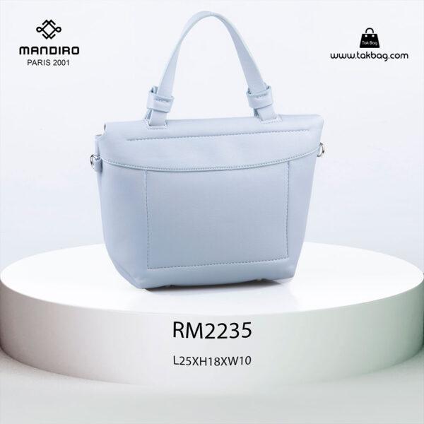 کیف رودوشی زنانه کد RM-2235 برند ماندیرو رنگ آبی از پشت ( mandiro RM-2235 )