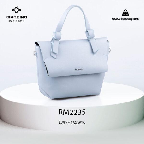 کیف رودوشی زنانه کد RM-2235 برند ماندیرو رنگ آبی از جلو ( mandiro RM-2235 )