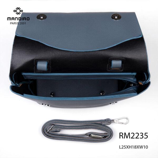 کیف رودوشی زنانه کد RM-2235 برند ماندیرو رنگ سرمه ای از بالا ( mandiro RM-2235 )