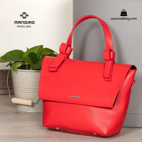 کیف رودوشی زنانه کد RM-2235 برند ماندیرو رنگ قرمز فانتزی ( mandiro RM-2235 )