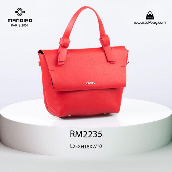 کیف رودوشی زنانه کد RM-2235 برند ماندیرو رنگ قرمز از جلو ( mandiro RM-2235 )