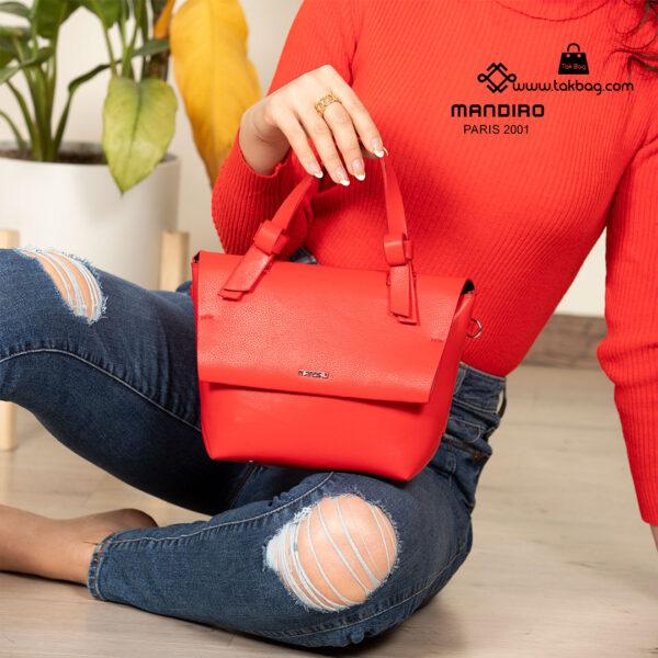 کیف رودوشی زنانه کد RM-2235 برند ماندیرو رنگ قرمز با مدل ( mandiro RM-2235 )