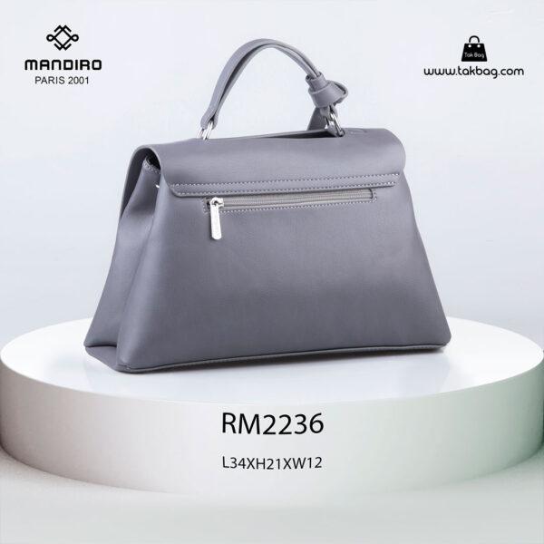 کیف رودوشی زنانه کد RM-2236 برند ماندیرو رنگ طوسی از پشت ( mandiro RM-2236 )