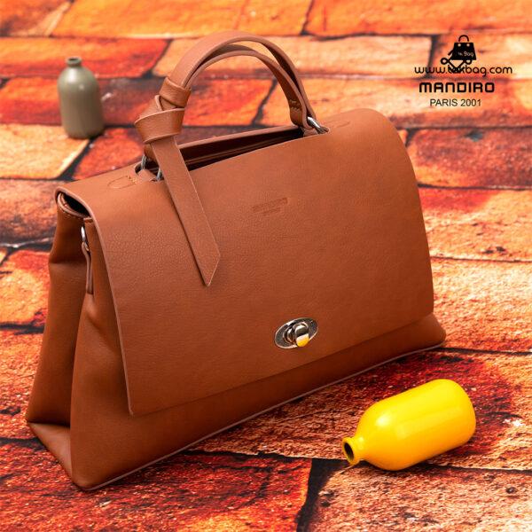 کیف رودوشی زنانه کد RM-2236 برند ماندیرو رنگ قهوه ای فانتزی ( mandiro RM-2236 )