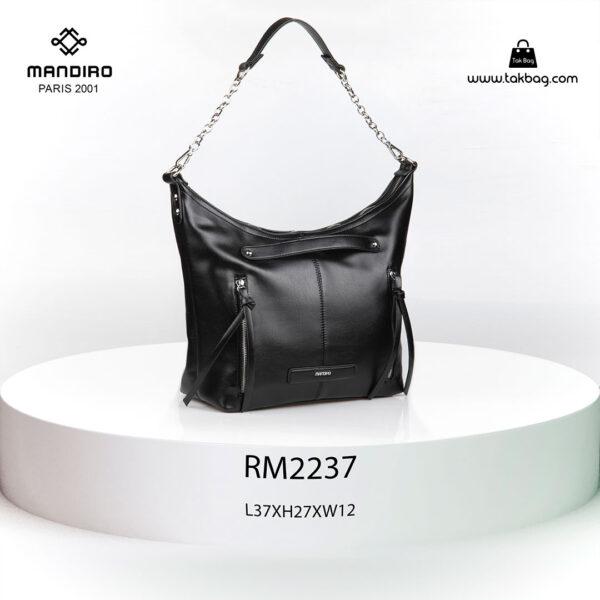 کیف رودوشی زنانه کد RM-2237 برند ماندیرو رنگ مشکی از جلو ( mandiro RM-2237 )
