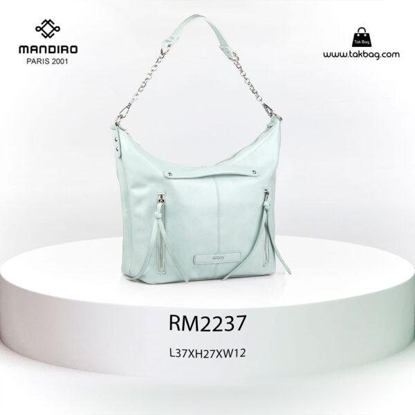 کیف رودوشی زنانه کد RM-2237 برند ماندیرو رنگ سفید از جلو ( mandiro RM-2237 )