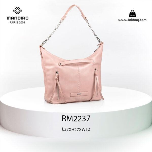 کیف رودوشی زنانه کد RM-2237 برند ماندیرو رنگ صورتی از جلو ( mandiro RM-2237 )