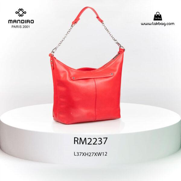 کیف رودوشی زنانه کد RM-2237 برند ماندیرو رنگ قرمز از پشت ( mandiro RM-2237 )