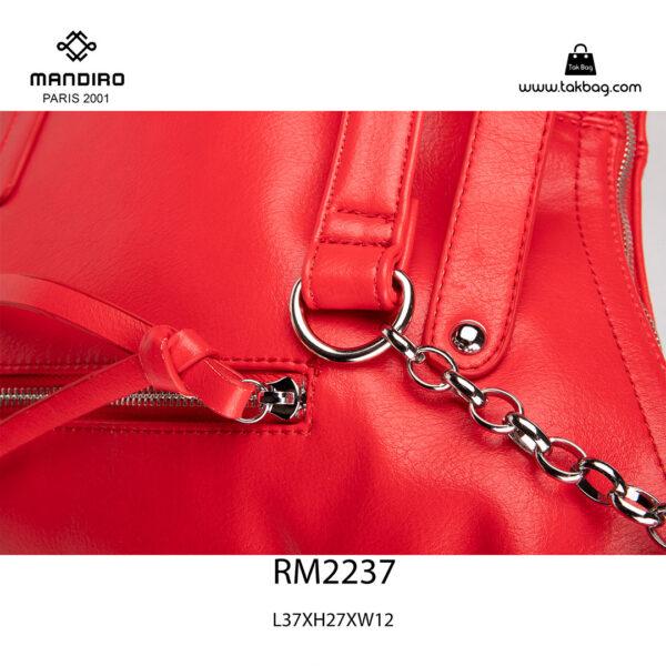 کیف رودوشی زنانه کد RM-2237 برند ماندیرو رنگ قرمز از نزدیک ( mandiro RM-2237 )