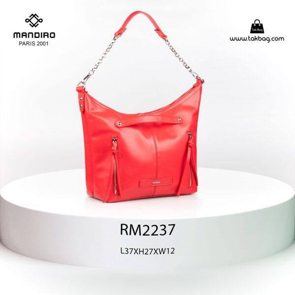 کیف رودوشی زنانه کد RM-2237 برند ماندیرو رنگ قرمز از جلو ( mandiro RM-2237 )