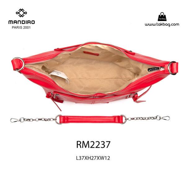 کیف رودوشی زنانه کد RM-2237 برند ماندیرو رنگ قرمز از بالا ( mandiro RM-2237 )
