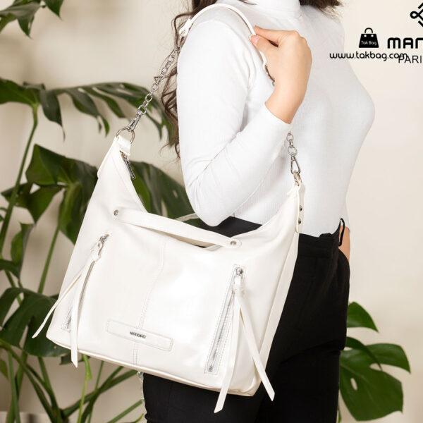 کیف رودوشی زنانه کد RM-2237 برند ماندیرو رنگ سفید با مدل ( mandiro RM-2237 )