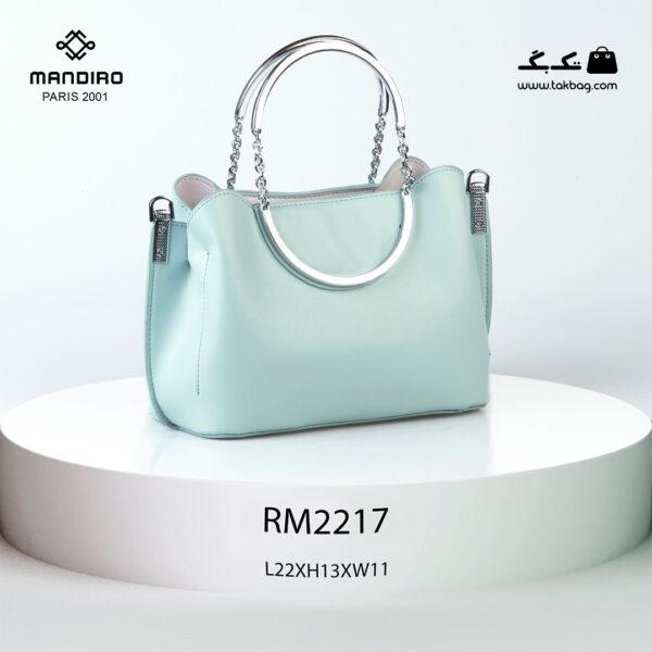 کیف رودوشی زنانه کد RM-2217 برند ماندیرو رنگ سبز از پشت ( mandiro RM-2217 )