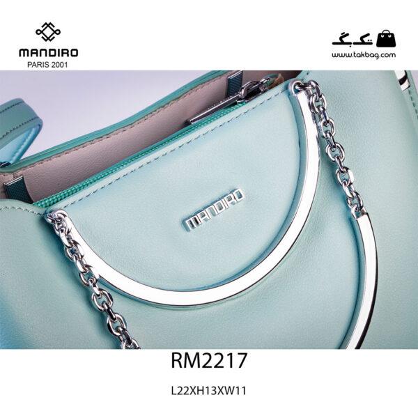کیف رودوشی زنانه کد RM-2217 برند ماندیرو رنگ سبز از نزدیک ( mandiro RM-2217 )
