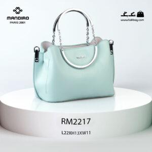 کیف رودوشی زنانه کد RM-2217 برند ماندیرو رنگ سبز از جلو ( mandiro RM-2217 )