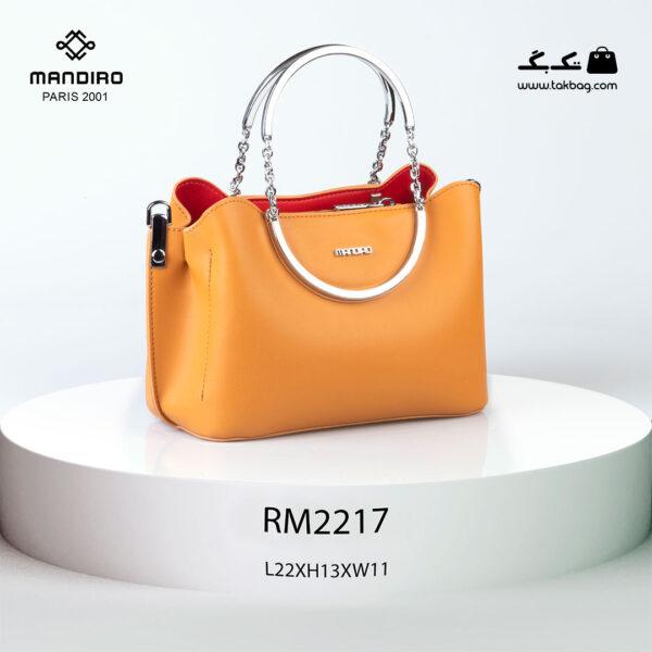 کیف رودوشی زنانه کد RM-2217 برند ماندیرو رنگ نارنجی از جلو ( mandiro RM-2217 )