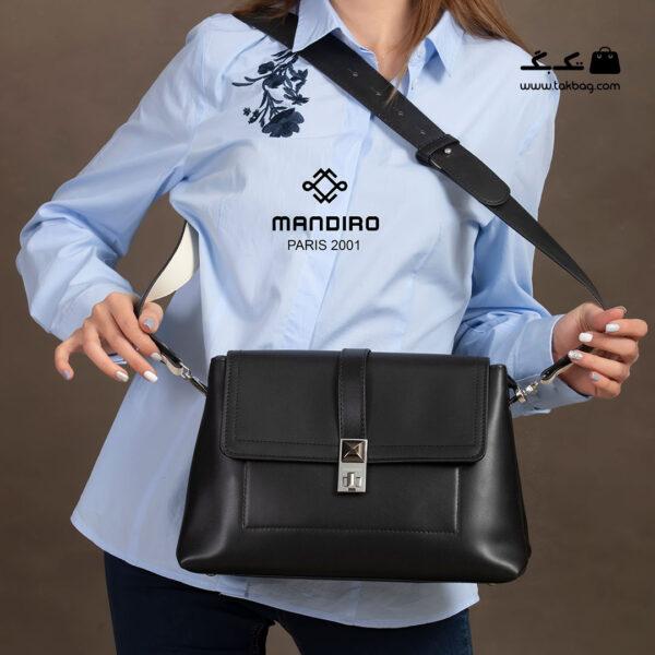 کیف رودوشی زنانه کد RM-2238 برند ماندیرو رنگ مشکی با مدل ( mandiro RM-2238 )