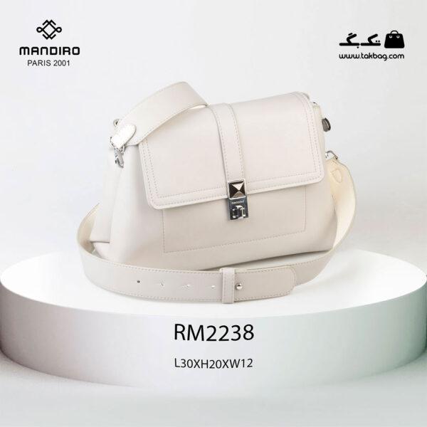 کیف رودوشی زنانه کد RM-2238 برند ماندیرو رنگ طوسی از جلو ( mandiro RM-2238 )