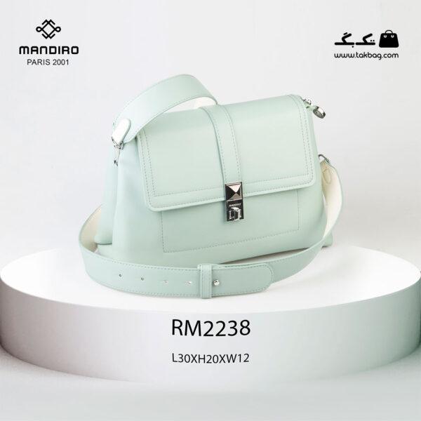 کیف رودوشی زنانه کد RM-2238 برند ماندیرو رنگ سبز از جلو ( mandiro RM-2238 )