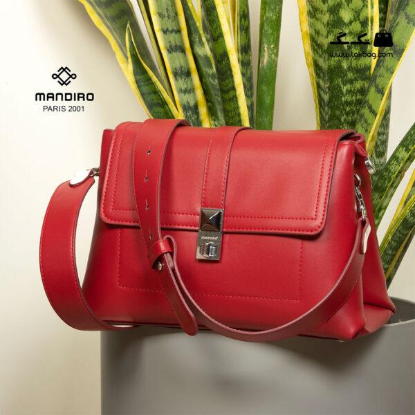 کیف رودوشی زنانه کد RM-2238 برند ماندیرو رنگ قرمز از جلو ( mandiro RM-2238 )