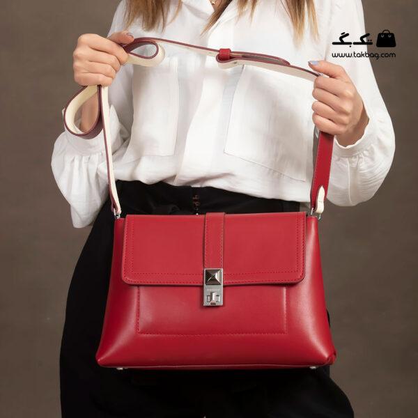 کیف رودوشی زنانه کد RM-2238 برند ماندیرو رنگ قرمز با مدل ( mandiro RM-2238 )