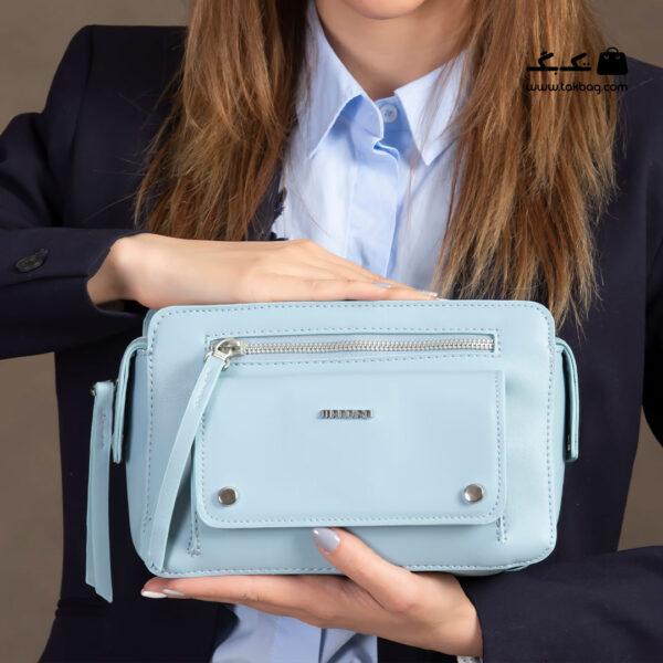 کیف رودوشی زنانه کد RM-2241 برند ماندیرو رنگ آبی با مدل ( mandiro RM-2241 )