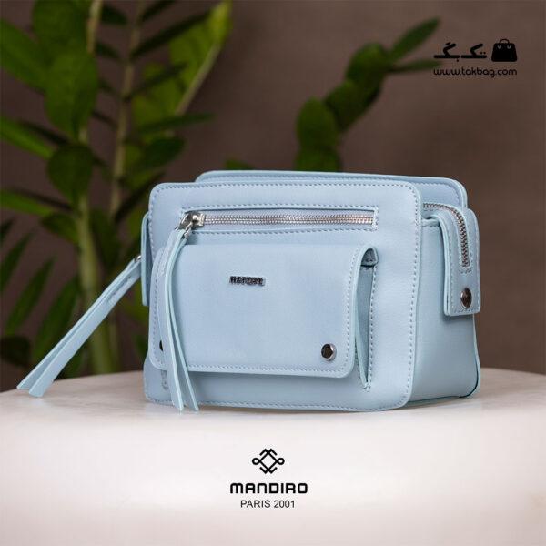 کیف رودوشی زنانه کد RM-2241 برند ماندیرو رنگ آبی از جلو ( mandiro RM-2241 )