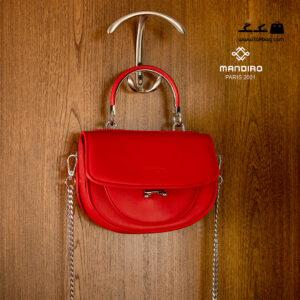 کیف رودوشی زنانه کد RM-2243 برند ماندیرو رنگ قرمز از جلو ( mandiro RM-2243 )