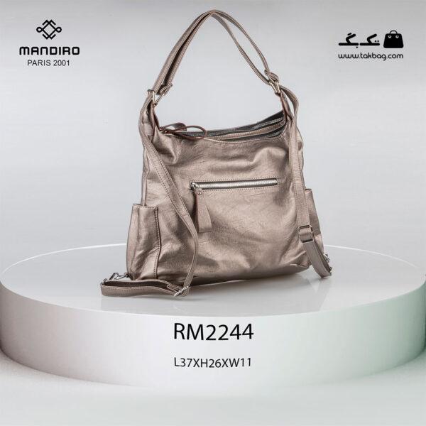 کیف رودوشی زنانه کد RM-2244 برند ماندیرو رنگ بژ از عقب ( mandiro RM-2244 )