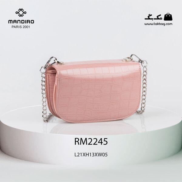 کیف رودوشی زنانه کد RM-2245 برند ماندیرو رنگ صورتی از پشت ( mandiro RM-2245 )