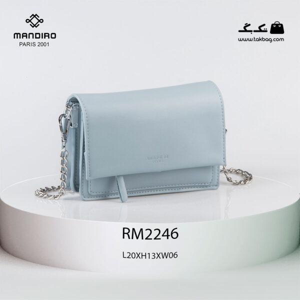 کیف رودوشی زنانه کد RM-2246 برند ماندیرو رنگ آبی از جلو ( mandiro RM-2246 )