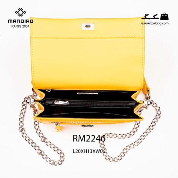 کیف رودوشی زنانه کد RM-2246 برند ماندیرو رنگ زرد از بالا( mandiro RM-2246 )